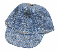 Female Denim Sets - Loose - Blue Denim Hat