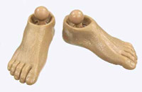 Gladiator Warriors: Flamma - Feet (Includes Ball Joints)