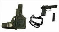 US Army Ranger Gunner In Afghanistan - Pistol w/ Holster
