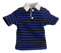 Fashion Man - Blue & Black Striped Shirt