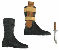 Metal Gear Solid 3: Naked Snake Sneaking Version - Boots w/ Knife & Sheath (Includes Ball Joints)
