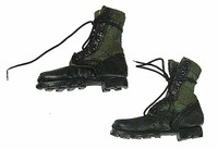 Navy SEAL Riverine Ops Rifleman (Desert Camo) - Fabric and Leather Lace Up Boots