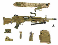 US Navy SEAL Team 8 - Machine Gun w/ Accessories