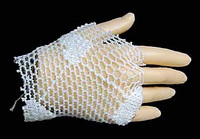 Fire Red Rose - Right Fishnet Gloved Hand
