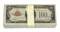 Chicago Gangster John - $100 Dollar Bill Bundle