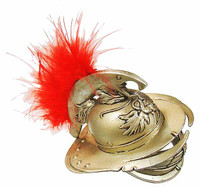 Gladiator Warriors: Verus - Helmet w/ Red Feather (Plastic)