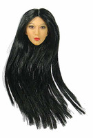 Female Ninja Assassin - Head w/ Straight Hair