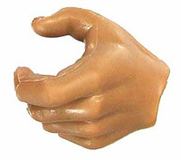 ZY - Male Muscular Nude - Left Gripping Hand