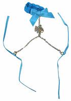 Flirty Girl: Lingerie - Blue Collar w/ Chain & Ribbons