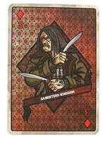Gangster Kingdom: Diamond 3 - 1:1 Scale Playing Card