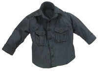 French Special Force - Blue/Grey Long Sleeve Button Up Shirt