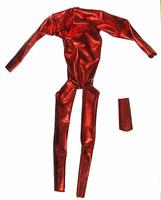 PH Customs - Shiny Red Spandex Body Suit w/ Collar (Velcro Back)