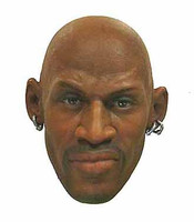 Dennis Rodman - Head w/ Relaxed Expression (Small Notch on back of head for Hair to fit into)