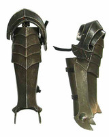 ACI LOTR: Ringwraith - Lower Leg Armor w/ Hinged Knee Armor (All Metal)