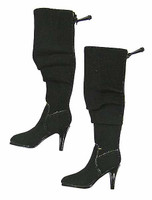 Women's V Neck Dresses - Black Boots (Ball Socket)