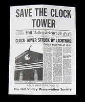 Back to the Future Part 1: Marty McFly - Save The Clock Tower Flier