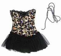 Super Duck: Corset Dresses - Leopard Corset Dress