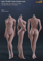 Seamless Female S02A Middle Breast: Suntan w/ Metal Structure - Boxed Figure