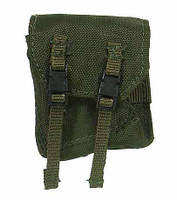 Green Faces in the Jungle - 2 Clasp Pouch