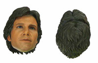 HT Star Wars: A New Hope: Han Solo - Head w/ Swappable Hair (1 For Headset)