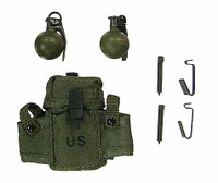 1st Brigade, 82nd Airborne Division Paratroopers PANAMA - Grenade Pouch w/ 2 Grenades