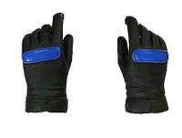 Racing Girls - Gloved Hands w/ Blue Stripes