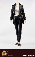 POP Toys: Female Agent Leather Suit - Boxed Accessory Set A (Black)