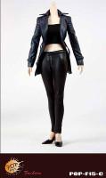 POP Toys: Female Agent Leather Suit - Boxed Accessory Set C (Blue)