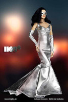 Shimmering Evening Dress (Silver) - Packaged Accessory Set