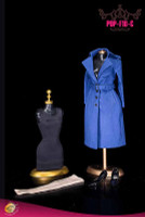 Women's Single Breasted Raincoat Set (Blue) - Boxed Accessory Set