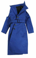 Women's Single Breasted Raincoat Sets - Blue Rain Coat