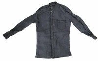 Cowboy (Django) - Blue Long Sleve Collerless Shirt