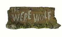 Monster Files: The Were Wolf - Were Wolf Name Plate