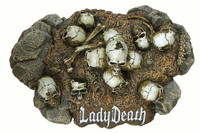 Lady Death - Display Stand (No Post - Pegs)