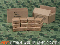 Vietnam C Rations Carton w/ 12 Meals - Boxed Accessory Set