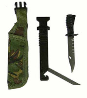 Royal Marines Commando - Knife w/ Sheath w/ Fold Out Saw & Pouch