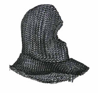 Knight Templar Crusader Sub Field Marshall - Chainmail Hood (Plain)