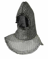 Knight Templar Banner Holder - Chainmail Hood (Plain)