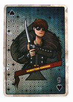 Gangster Kingdom: Spade 6 Ada - 1:1 Scale Playing Card