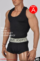 MC: Male Underwear Black (A) - Packaged Clothing Set