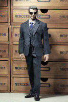 POP Toys: Men's Striped Suits - X22-B Black Boxed Set (No Body or Head)