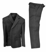 POP Toys: Men's Striped Suits - Charcoal Grey Pinstriped Suit