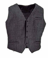 POP Toys: Men's Striped Suits - Light Grey Pinstriped Vest