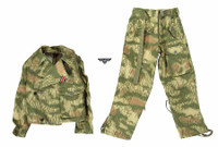 Wehrmacht & Tank Crew Overalls AL10008-A - Uniform (Swamp Camo) w/ Patch