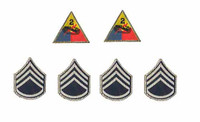 "2nd Armored Division ""Hell On Wheels"" Sgt. Donald (Regular Edition) - Patches"