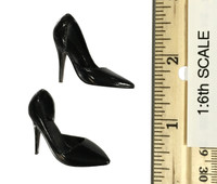 POP Toys: Office Lady Business Suits - Black High Heeled Shoes (For Feet)
