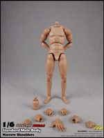 COO: BD001 - Standard Male Body (Narrow Shoulders) Set - 25cm Tall