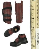 Deadpool - Shoes w/ Leggings & Knife Sheath (See Note)