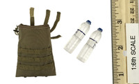 British Army in Afghanistan - Water Roll Up Pouch w/ Water Bottles (2)