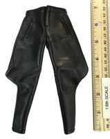 Infernal Clockwork Men - Black Leather Riding Pants